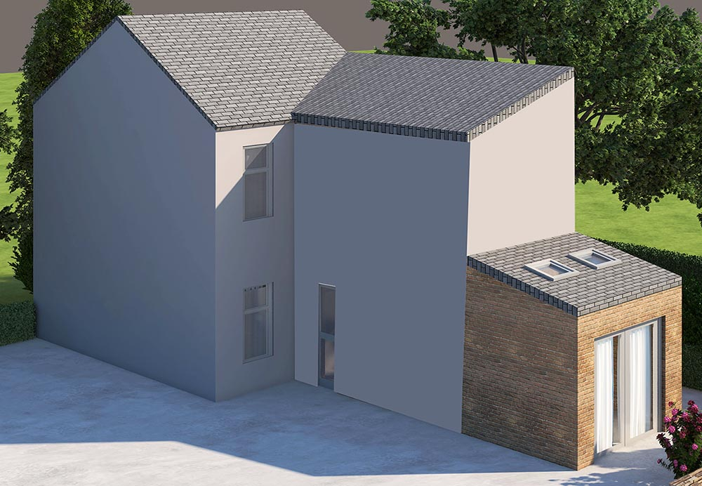 home rear extension render