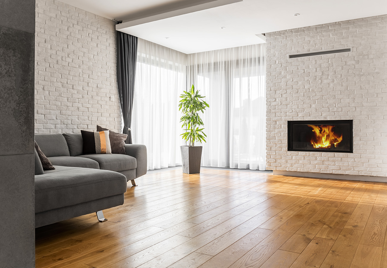 modern living room wooden flooring
