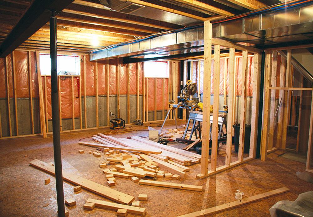 basement conversion work