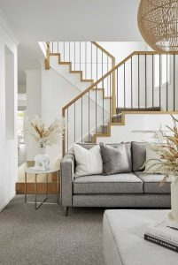 Steel and timber contemporary staircase