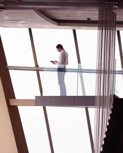 Suspending string modern staircase design