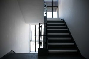 Modern and luxurious glass staircase