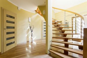 Staircase with a Rustic fusion