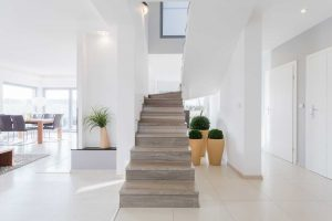 Stunningly beautiful stone polished staircase design