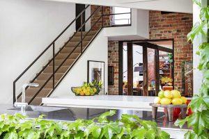 A Rustic modern staircase design