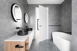 Modern and convenient bathroom design
